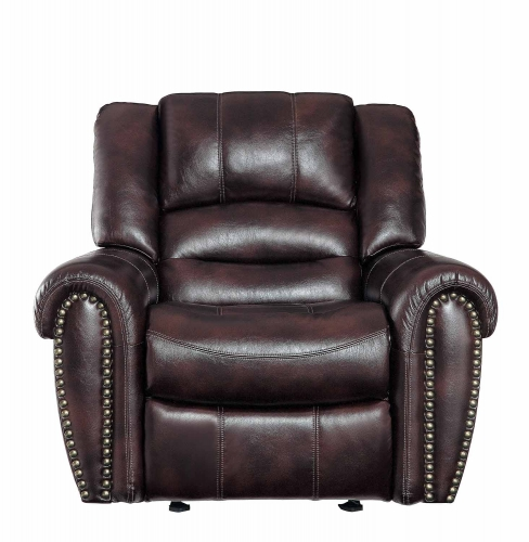 Center Hill Glider Reclining Chair - Dark Brown