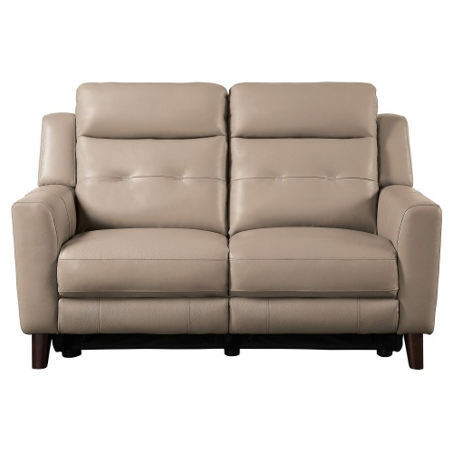 Wystan Power Double Reclining Love Seat - Beige