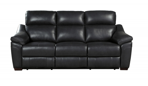 Renzo Power Double Reclining Sofa - Dark Gray