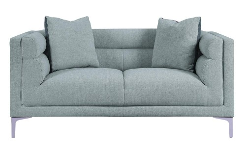 Vernice Love Seat - Light fog gray