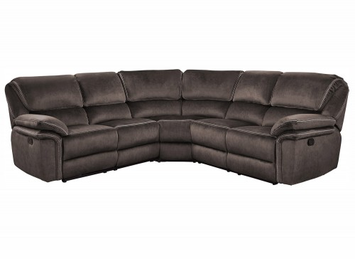 Bronagh Reclining Sectional Sofa Set - Chocolate