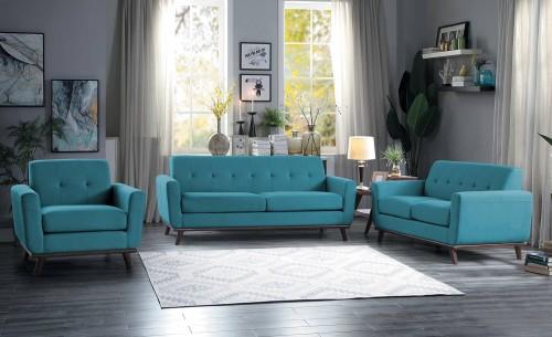 Homelegance Rittman Sofa Set - Blue