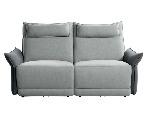 Homelegance Linette Power Double Reclining Love Seat with Power Headrests - Gray