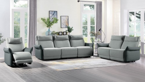 Homelegance Linette Power Reclining Sofa Set - Gray