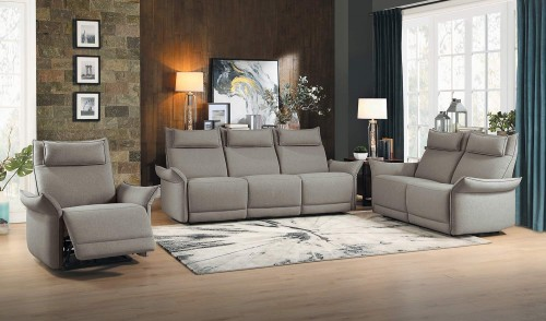 Homelegance Linette Power Reclining Sofa Set - Taupe