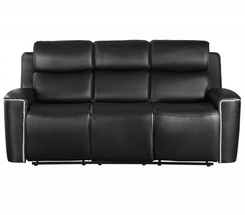 Altair Double Reclining Sofa - Black