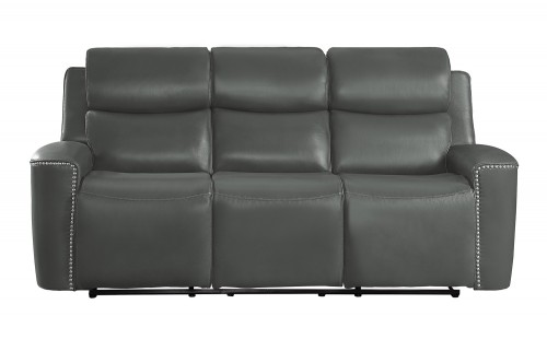 Altair Double Reclining Sofa - Gray