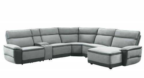Hedera Power Reclining Sectional Sofa Set - Gray