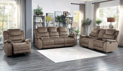Shola Power Reclining Sofa Set - Brown