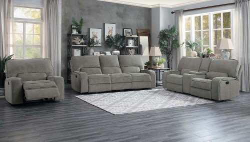 Borneo Power Reclining Sofa Set - Mocha