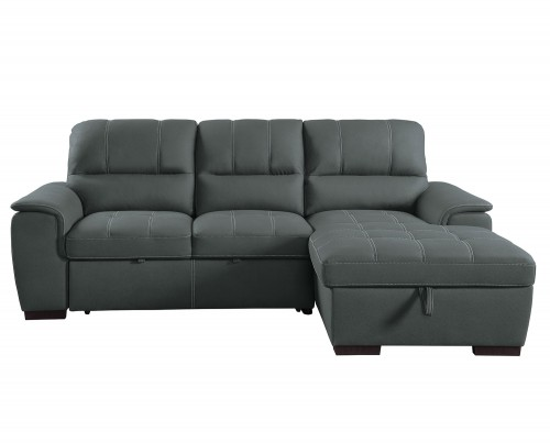 Andes Sectional with Pull-out Bed and Hidden Storage - Gray