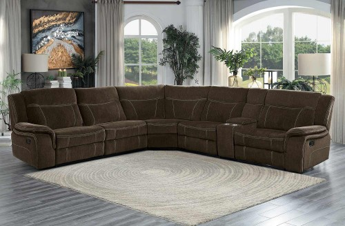 Annabelle Reclining Sectional Sofa Set - Brown