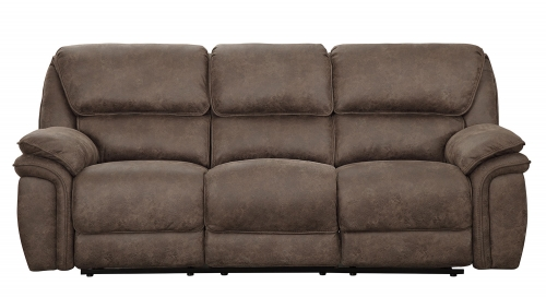Hadden Double Reclining Sofa - Dark Brown