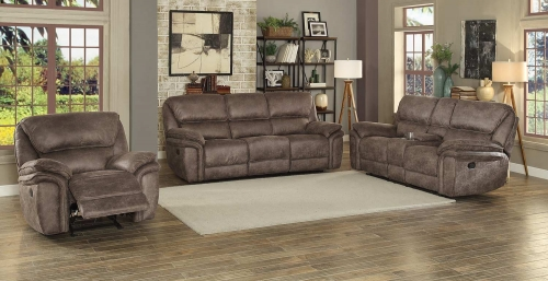 Hadden Power Reclining Sofa Set - Dark Brown