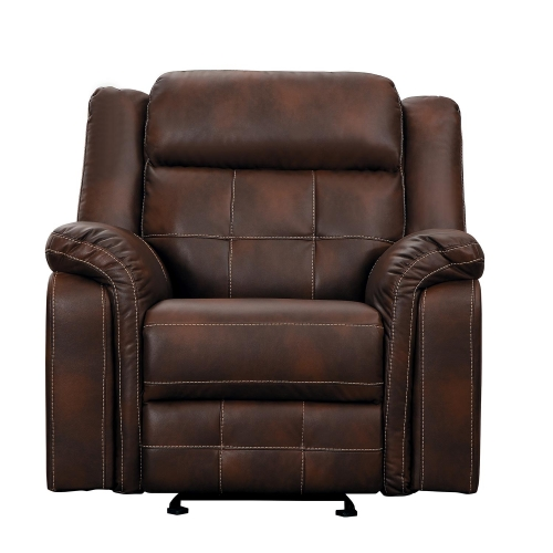 Keridge Glider Reclining Chair - Brown