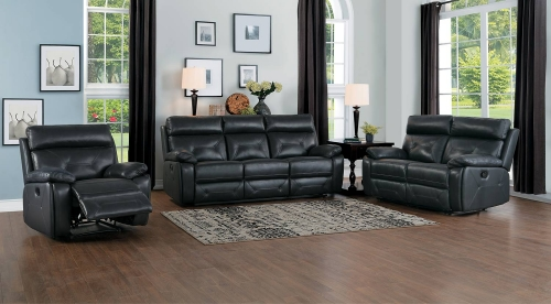 Resonance Double Reclining Sofa Set - Dark Gray