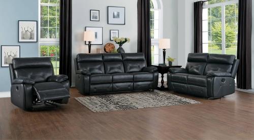 Resonance Double Reclining Sofa Set - Dark Gray