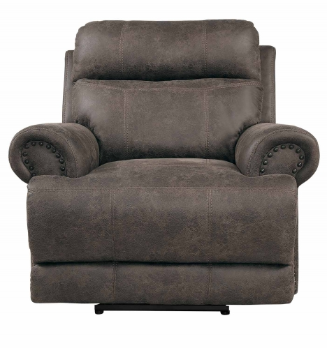 Aggiano Power Reclining Chair With Power Headrest - Dark Brown