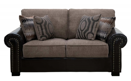 Boykin Love Seat - Brown Chenille