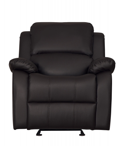 Clarkdale Glider Reclining Chair - Dark Brown - Dark brown bi-cast vinyl