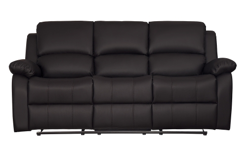 Clarkdale Double Reclining Sofa With Center Drop-Down Cup Holders - Dark Brown - Dark brown bi-cast vinyl