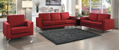 Canaan Sofa Set - Red