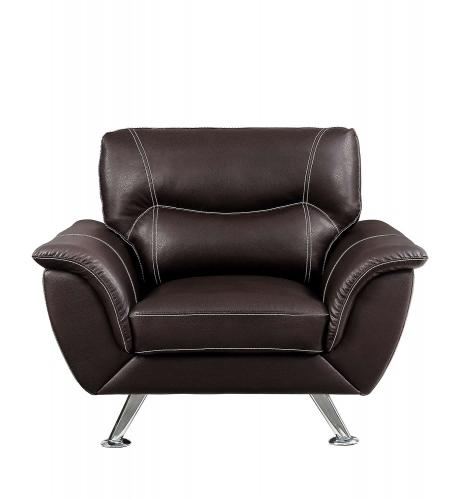 Jambul Chair - Dark Brown - Dark brown bi-cast vinyl