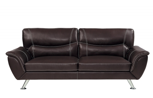 Jambul Sofa - Dark Brown - Dark brown bi-cast vinyl