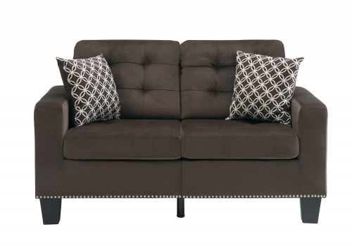 Lantana Love Seat - Chocolate and Gray