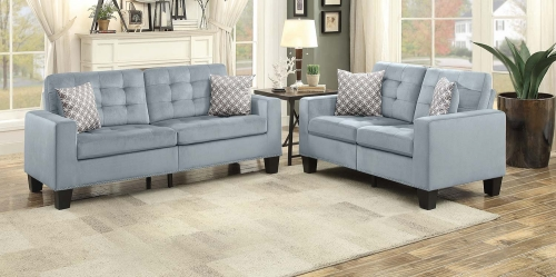 Lantana Sofa Set - Gray