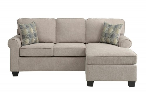 Clumber Reversible Sofa Chaise Sectional - Sand