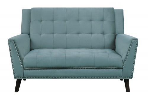 Broadview Love Seat - Fog gray