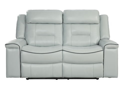 Darwan Double Lay Flat Reclining Loveseat - Light Gray