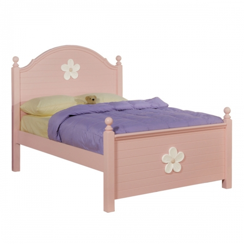 Floresville Bed - Pink (White Flower)