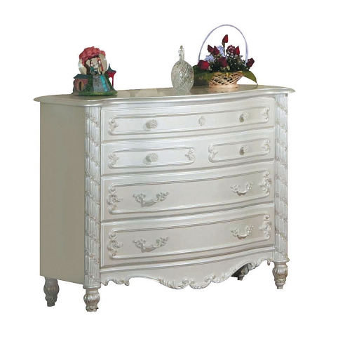 Pearl Dresser - Pearl White/Gold Brush Accent