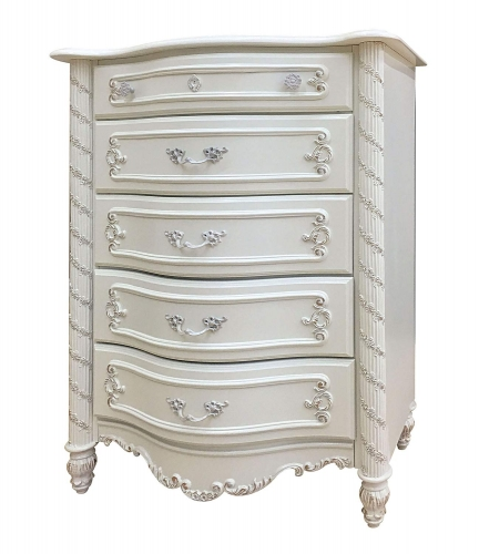 Pearl Chest - Pearl White/Gold Brush Accent