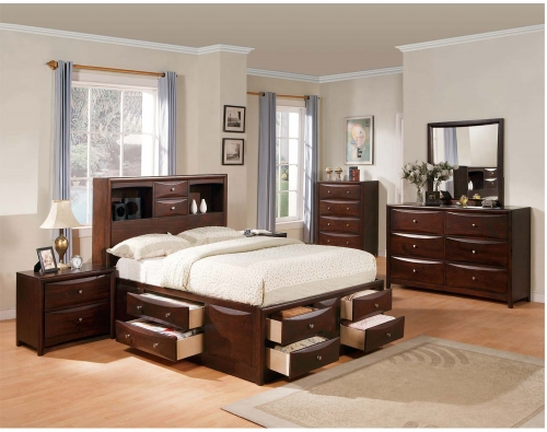 Manhattan Bedroom Set with Storage - Espresso