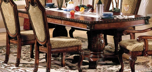 Chateau De Ville Dining Table with Double Pedestal - Cherry