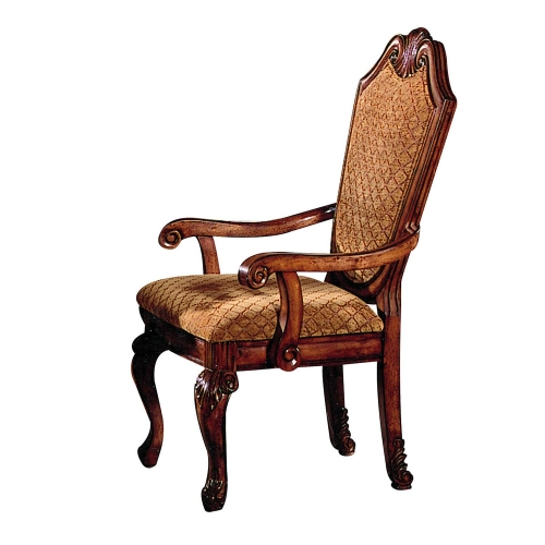 Acme Chateau De Ville Arm Chair - Fabric/Cherry