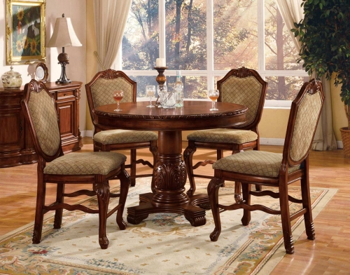 Acme Chateau De Ville Counter Height Dining Set - Cherry