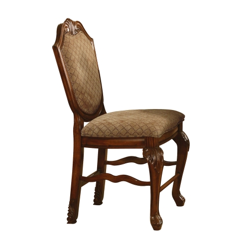 Acme Chateau De Ville Counter Height Chair - Fabric/Cherry