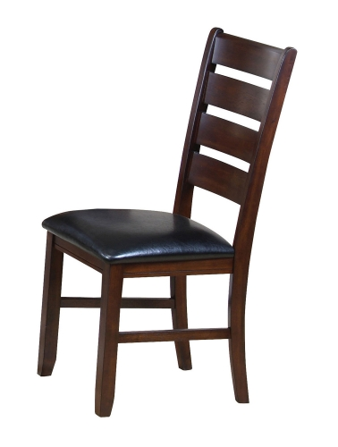 Urbana Side Chair - Black Vinyl/Cherry