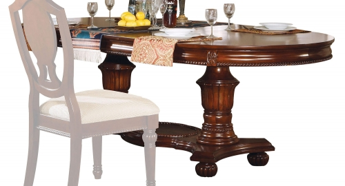 Classique Dining Table with Double Pedestal - Cherry
