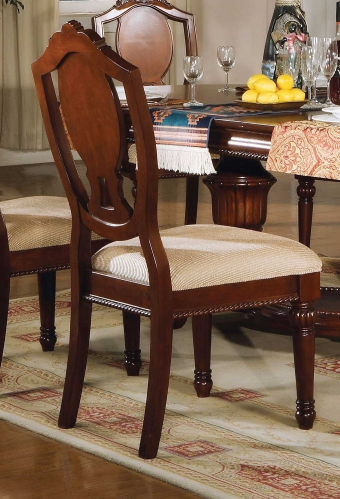 Classique Side Chair - Fabric/Cherry
