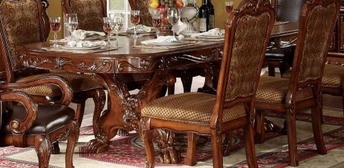 Dresden Dining Table with Trestle Pedestal - Cherry Oak