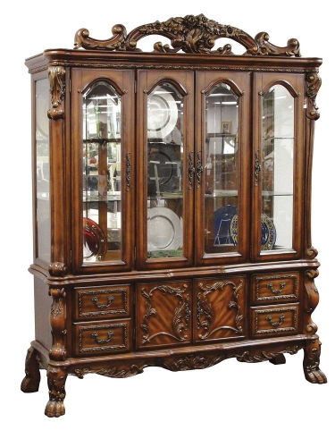 Dresden Hutch and Buffet - Cherry Oak