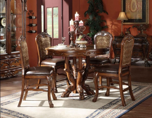 Acme Dresden Counter Height Dining Set - Cherry Oak