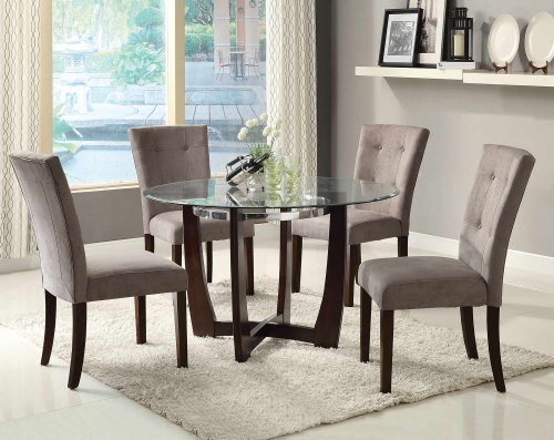 Baldwin Dining Set - Gray/Walnut