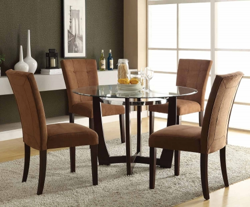 Baldwin Dining Set - Chocolate/Walnut