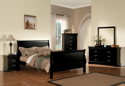 Louis Philippe III Bedroom Set - Black